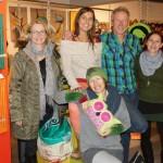 Eva, Heidrun, Keith, Gudrun und Elke (v.l.) bei der Eröffnung der Artbox