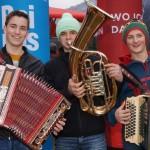 Johannes, Martin und Seppi spielen live im Radio