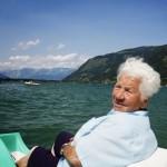 Letzten Sommer erstmals mit dem Tretboot am Zeller See