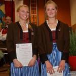 Ausgezeichnete Nachwuchsmusikerinnen Manuela Möschl und Magdalena Schmuck