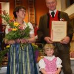 Sepp Eder, 40 Jahre Musikant, mit  Roswitha und Hannah