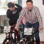 Kornel Grundner, GF der Asitz Bergbahnen, testet seine Kondition