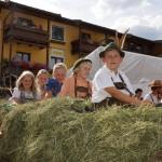 Heuwagen mit Kutscher Wolfgang Rieder