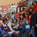 Das Team vom Kinder- und Jugendzentrum bei der Schminkparade