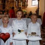 Die stolzen Erstkommunionmädchen