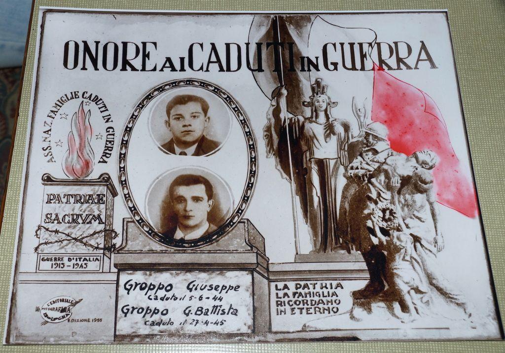 Gedenken an die Gefallenen: Giuseppe und sein Bruder Battista