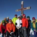Am 2. Tag die sonnige Belohnung am Gipfel