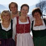 Maishofner Ortsbäuerin Isabella Dick (Mitte) mit Team