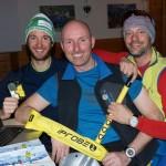 Bergführer Christoph Krahbichler und Georg Leitner mit Veranstalter HP Kreidl