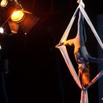 Pamina Milewska, die Tochter von Jurek, ist eine großartige Akrobatin